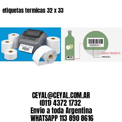 etiquetas termicas 32 x 33