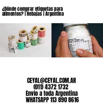 ¿Dónde comprar etiquetas para alimentos?   Rebajas   Argentina