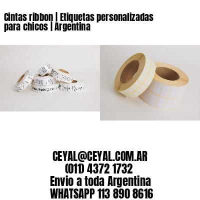 Cintas ribbon   Etiquetas personalizadas para chicos   Argentina