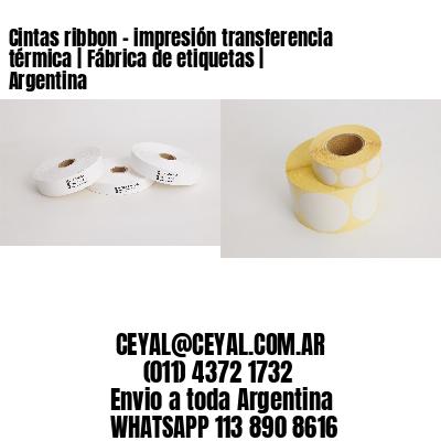 Cintas ribbon - impresión transferencia térmica | Fábrica de etiquetas | Argentina