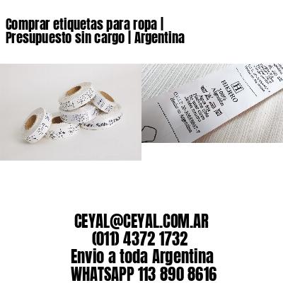 Comprar etiquetas para ropa | Presupuesto sin cargo | Argentina