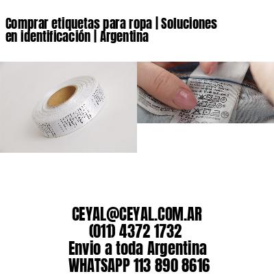 Comprar etiquetas para ropa | Soluciones en identificación | Argentina
