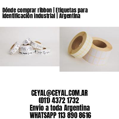 Dónde comprar ribbon | Etiquetas para identificación industrial | Argentina