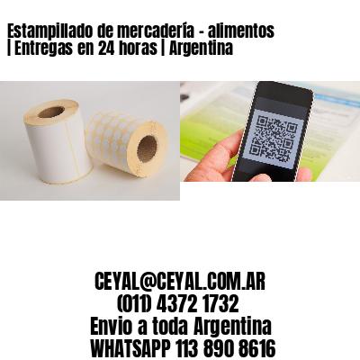 Estampillado de mercadería - alimentos | Entregas en 24 horas | Argentina
