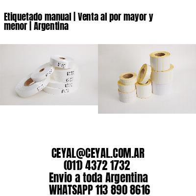 Etiquetado manual | Venta al por mayor y menor | Argentina