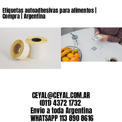 Etiquetas autoadhesivas para alimentos   Compra   Argentina