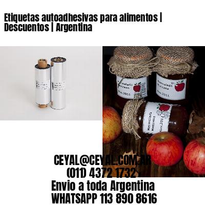 Etiquetas autoadhesivas para alimentos | Descuentos | Argentina
