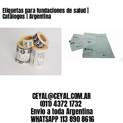 Etiquetas para fundaciones de salud | Catálogos | Argentina
