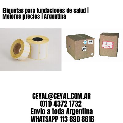Etiquetas para fundaciones de salud   Mejores precios   Argentina