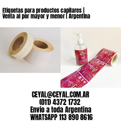 Etiquetas para productos capilares | Venta al por mayor y menor | Argentina