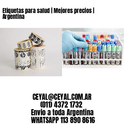 Etiquetas para salud | Mejores precios | Argentina