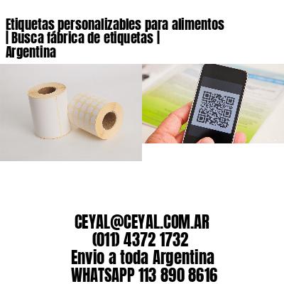 Etiquetas personalizables para alimentos | Busca fábrica de etiquetas | Argentina