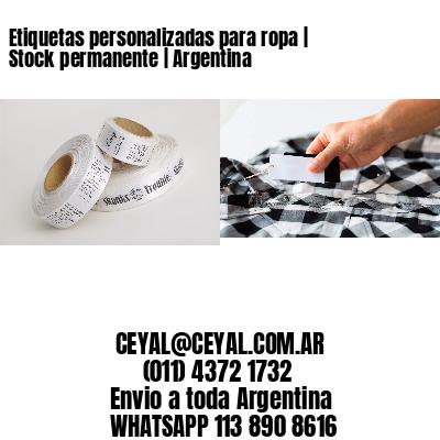 Etiquetas personalizadas para ropa | Stock permanente | Argentina