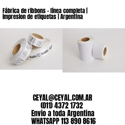 Fábrica de ribbons - línea completa | impresion de etiquetas | Argentina