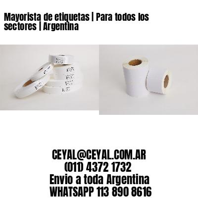 Mayorista de etiquetas | Para todos los sectores | Argentina