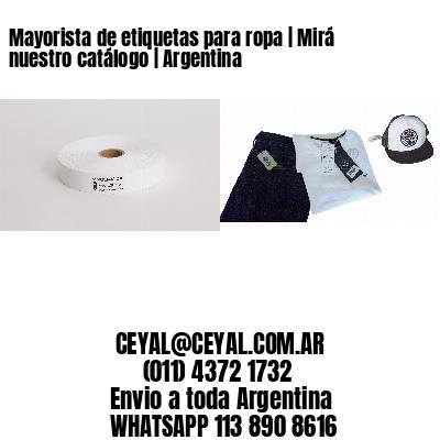 Mayorista de etiquetas para ropa   Mirá nuestro catálogo   Argentina