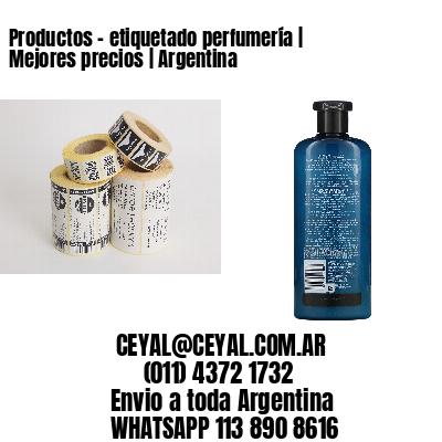 Productos - etiquetado perfumería   Mejores precios   Argentina