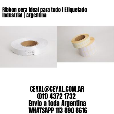 Ribbon cera ideal para todo   Etiquetado industrial   Argentina