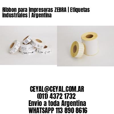 Ribbon para impresoras ZEBRA   Etiquetas industriales   Argentina