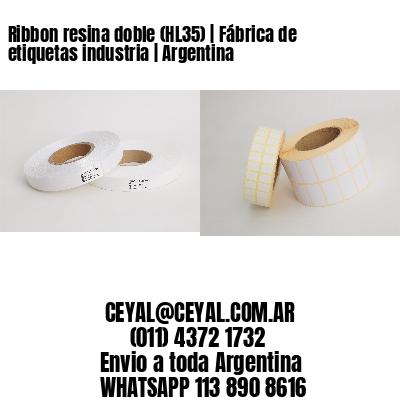 Ribbon resina doble (HL35) | Fábrica de etiquetas industria | Argentina