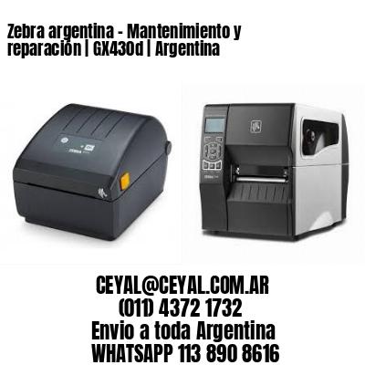 Zebra argentina - Mantenimiento y reparación   GX430d   Argentina