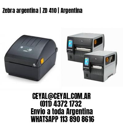 Zebra argentina   ZD 410   Argentina