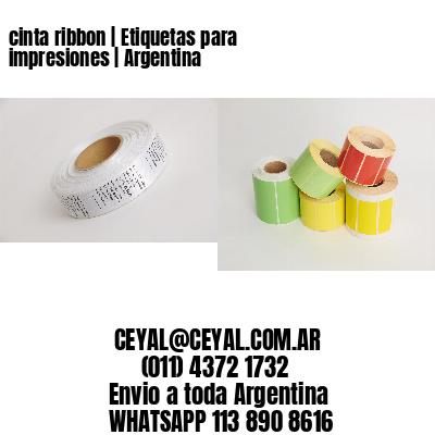 cinta ribbon | Etiquetas para impresiones | Argentina