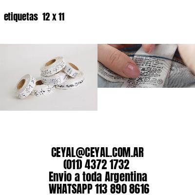 etiquetas  12 x 11