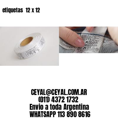 etiquetas  12 x 12
