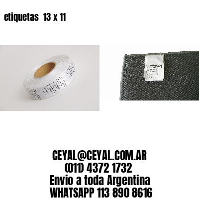 etiquetas  13 x 11
