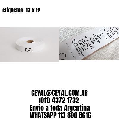 etiquetas  13 x 12