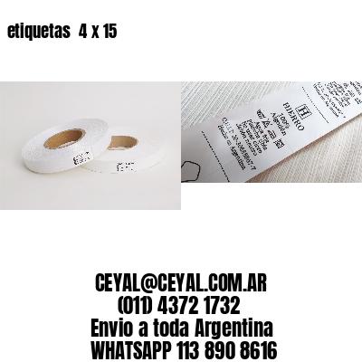 etiquetas  4 x 15