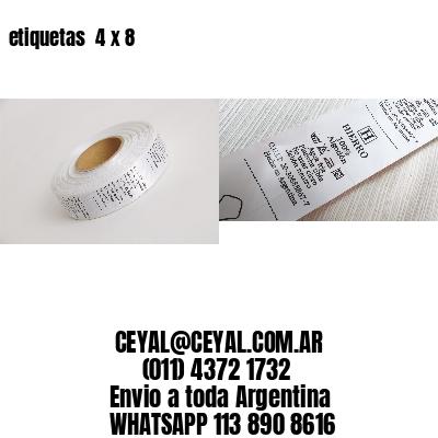 etiquetas  4 x 8