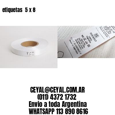 etiquetas  5 x 8