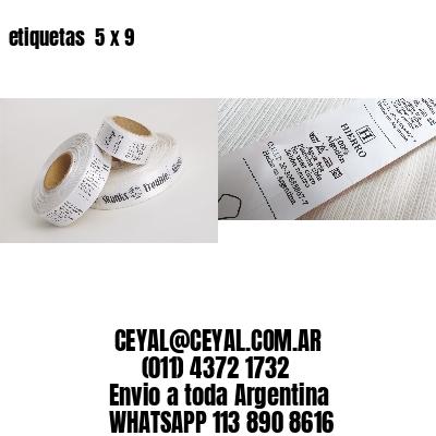 etiquetas  5 x 9