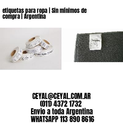 etiquetas para ropa | Sin mínimos de compra | Argentina