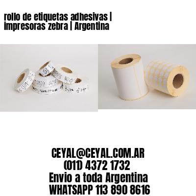 rollo de etiquetas adhesivas   impresoras zebra   Argentina