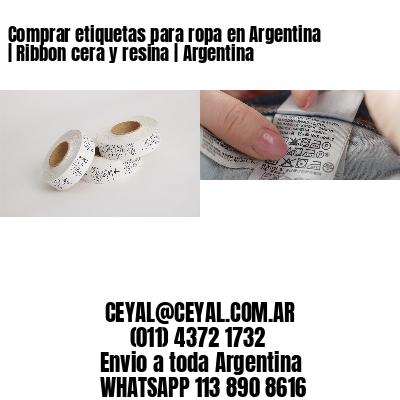 Comprar etiquetas para ropa en Argentina | Ribbon cera y resina | Argentina
