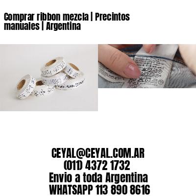 Comprar ribbon mezcla | Precintos manuales | Argentina