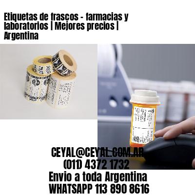 Etiquetas de frascos - farmacias y laboratorios | Mejores precios | Argentina