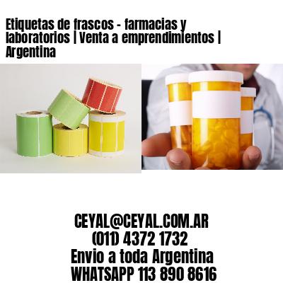 Etiquetas de frascos - farmacias y laboratorios | Venta a emprendimientos | Argentina
