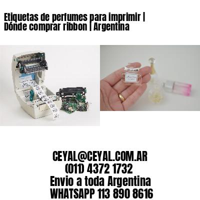 Etiquetas de perfumes para imprimir   Dónde comprar ribbon   Argentina