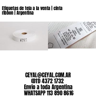 Etiquetas de tela a la venta   cinta ribbon   Argentina