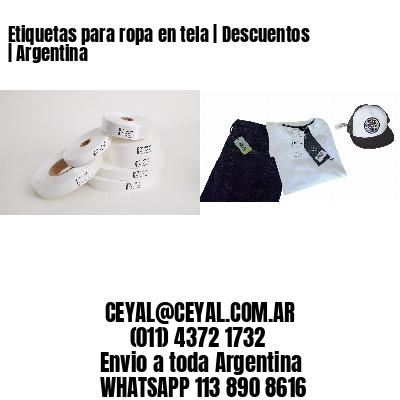 Etiquetas para ropa en tela | Descuentos | Argentina