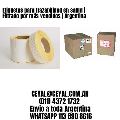 Etiquetas para trazabilidad en salud   Filtrado por más vendidos   Argentina