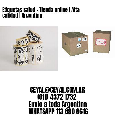 Etiquetas salud - Tienda online | Alta calidad | Argentina