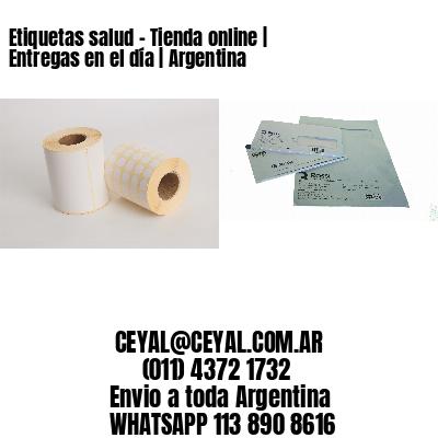 Etiquetas salud - Tienda online | Entregas en el día | Argentina