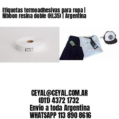 Etiquetas termoadhesivas para ropa   Ribbon resina doble (HL35)   Argentina