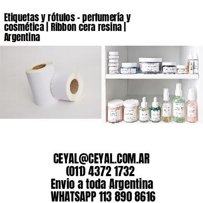 Etiquetas y rótulos - perfumería y cosmética   Ribbon cera resina   Argentina