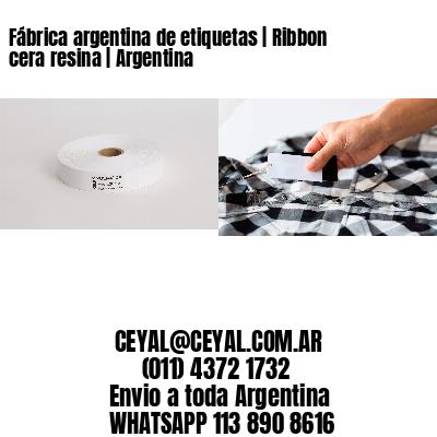Fábrica argentina de etiquetas   Ribbon cera resina   Argentina